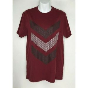 Guess Crew Neck Burgundy Red Raised Dots In M NWT